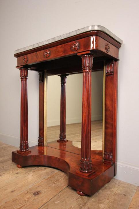 Englischer Mahagoni Beistelltisch antik ca 1830