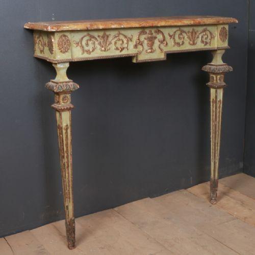Italienischer Beistelltisch Massivholz Konsolentisch original antik 1790