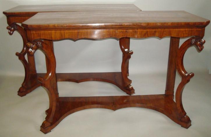 Antike italienische Beistelltische Konsolentische Massivholz ca 1800