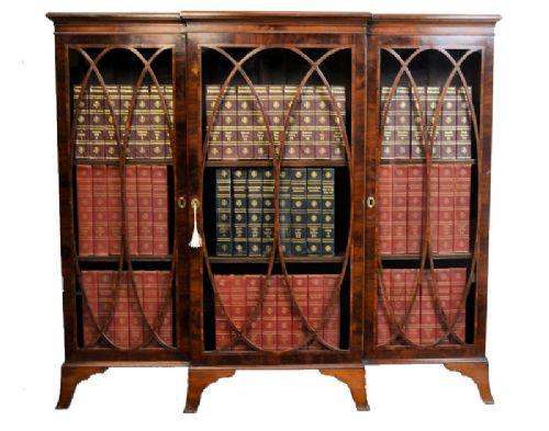 Antiker Sheraton Revival Mahagoni Bücherschrank englisch ca 1890