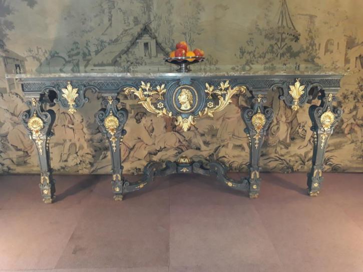 Französischer Antiker vergoldeter Kalkholz Tisch ca. 18. Jh.