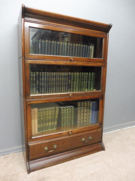 Englisches Eichen Bücherregal original antik ca 1910