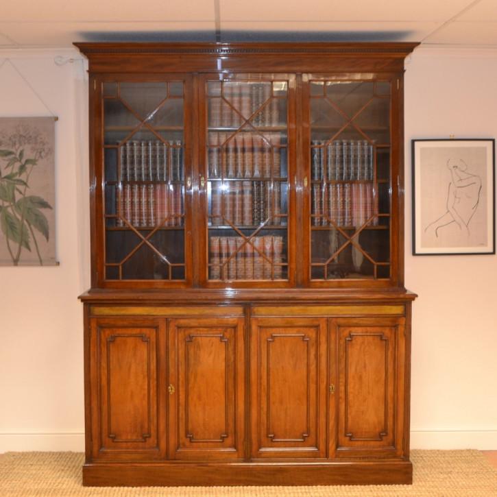 Viktorianischer Mahagoni Bücherschrank antik ca 1880