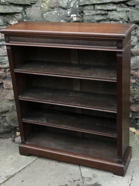Viktorianisches Nussbaum Bücherregal antik englisch ca 1850