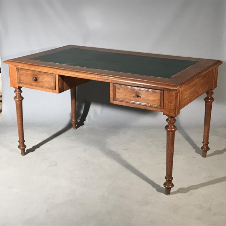 Englischer Viktorianischer Eichen Schreibtisch antik ca. 1860