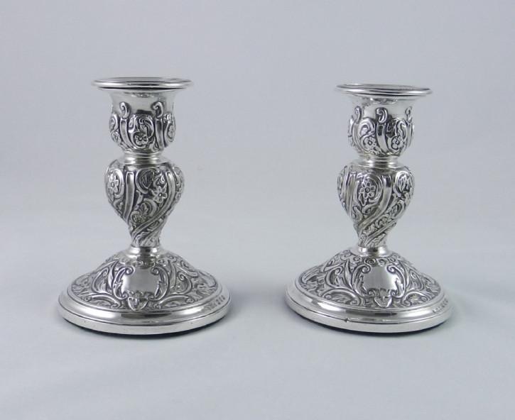 Viktorianische Silber Kerzenhalter antik englisch ca 1897
