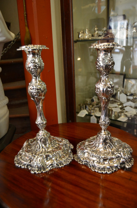 Antike Kerzenhalter versilbert englisch ca 1900