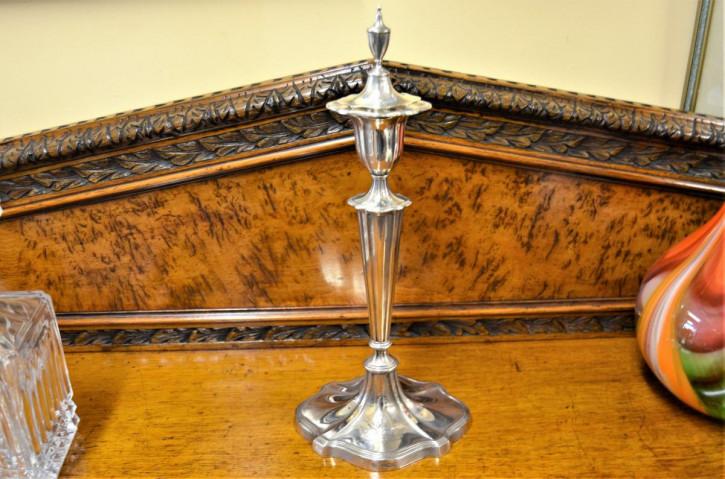 Antiker britischer Kerzenständer Echtsilber ca 1920