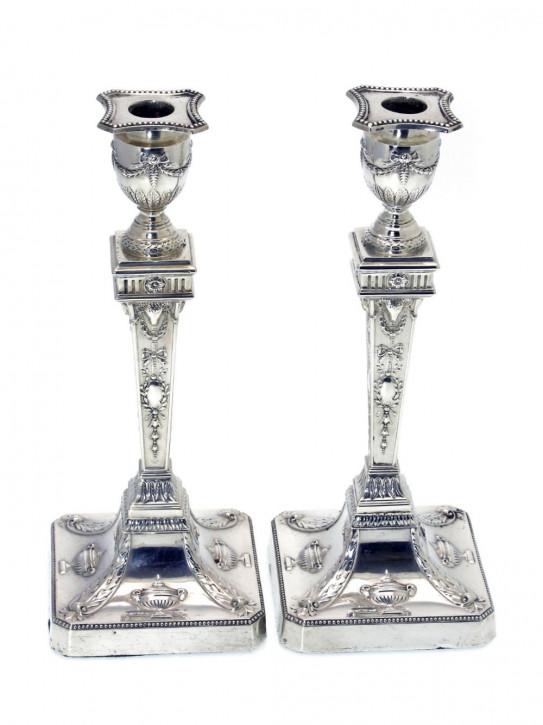 Antike englische Silber Kerzenhalter ca 1901