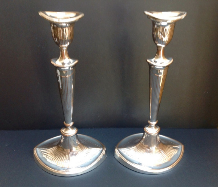 Antike versilberte Kerzenständer original englisch ca 1800