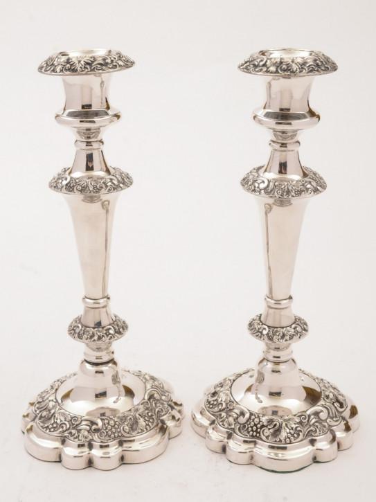Antike englische Kerzenständer versilbert ca 1920