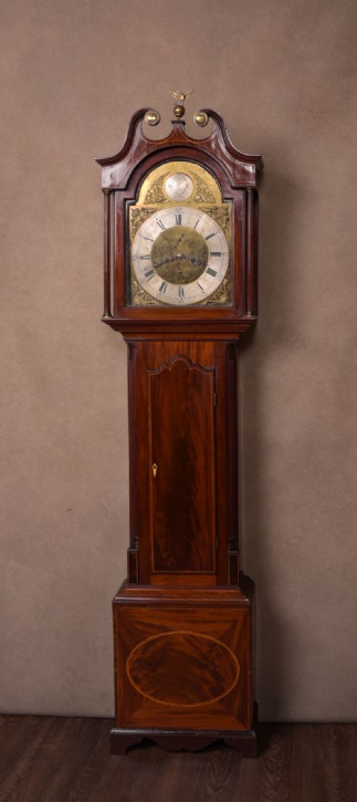 Antike Englische Mahagoni Standuhr von Young of Dundee ca. 19. JH.