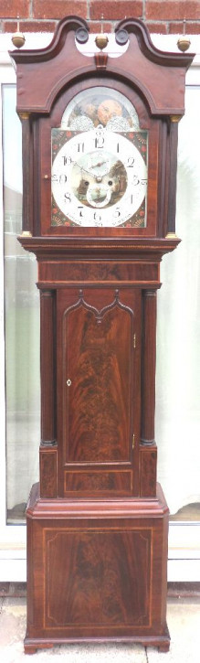 Antike Standuhr Mahagoni englisch von J. Watson Blackburn ca. 1800