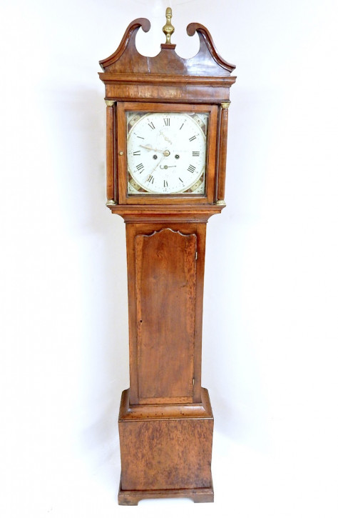 Antike Englische Ulmen Standuhr grandfather clock ca. 1800
