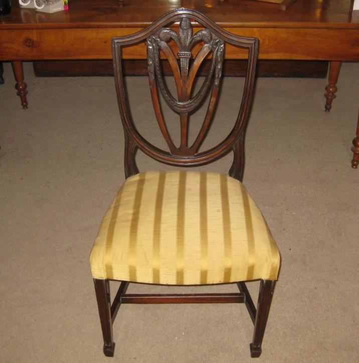 6 Edwardianische Antike Englische Esszimmerstühle ca. 1910