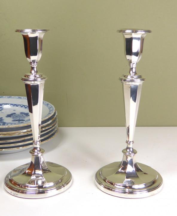 Antike englische Kerzenhalter Silber Echtsilber ca 1923