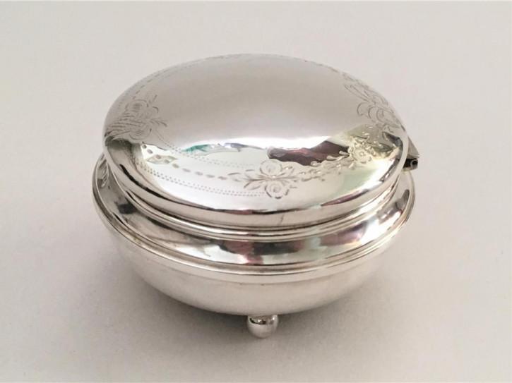 Antike original britische Silber Schmuckdose Echtsilber ca 1922