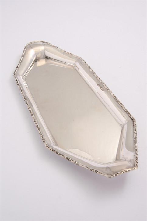 Edwardianische Sterling Silber Stifteablage Tablett Echtsilber antik 1906
