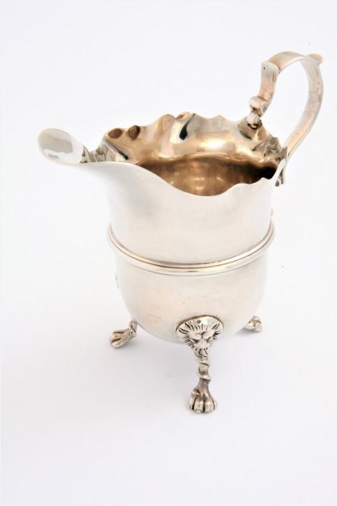 Viktorianischer antiker Silber Saucenkrug britisch ca 1898
