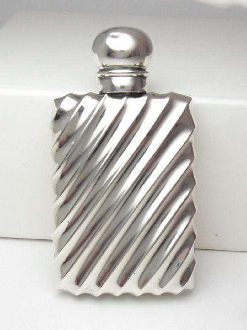 Viktorianische antike Echtsilber Parfümflasche englisch  1890
