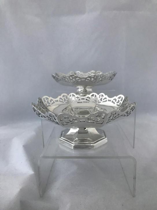 Antike original britische Silber Schalen Echtsilber 1943