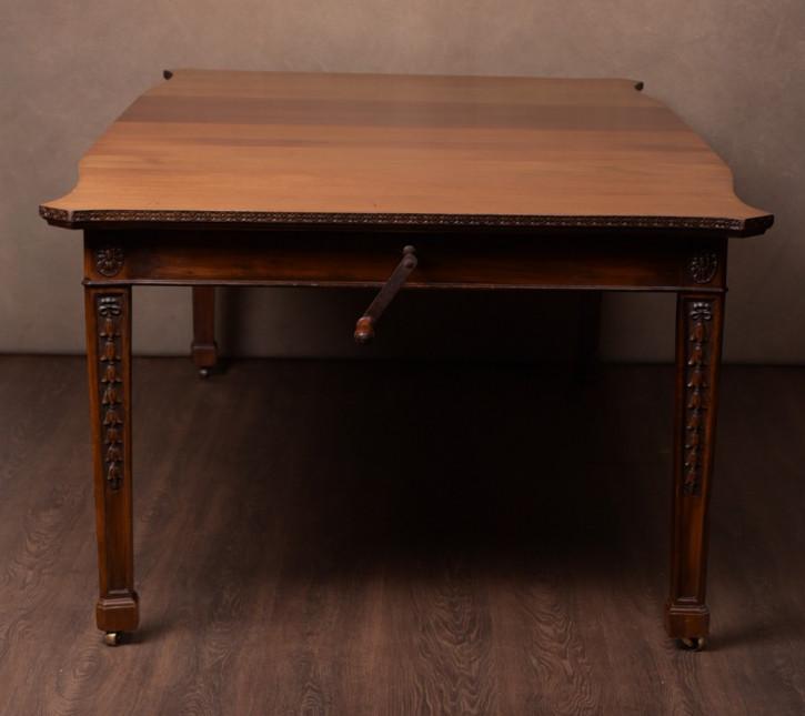 Edwardianischer Antiker Mahagoni Esstisch von Maple & Co. ca. 1900