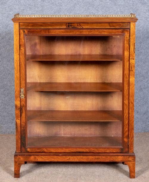 Antiker Englischer Palisander verglaster Bücherschrank ca. 1860