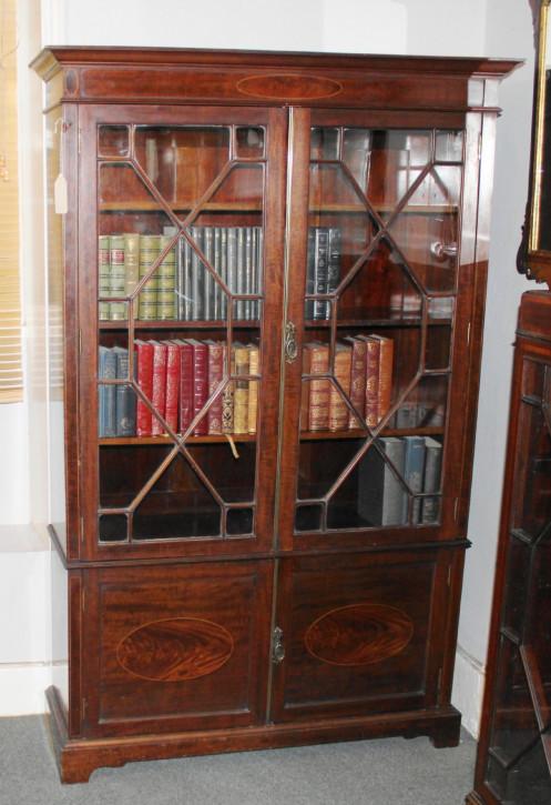 Georgianisches Mahagoni Bücherregal antik englisch ca 1920