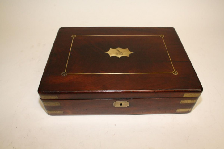 Antike englische Mahagoni Schatulle Kiste original ca 1800