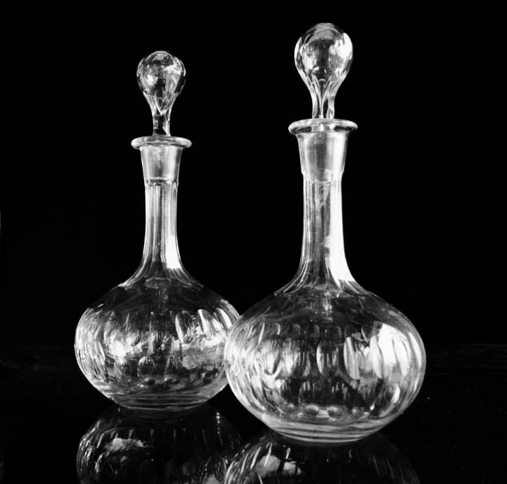 Viktorianische antike Weinkaraffen Glas englisch ca 1880