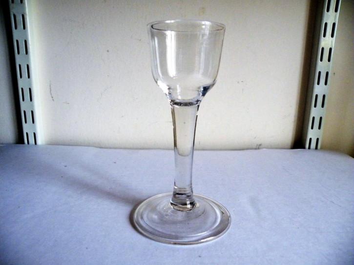 Antikes englisches Weinglas original ca 1750