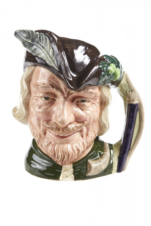 Antiker englischer Keramik Krug Robin Hood von Royal Doulton ca 1920