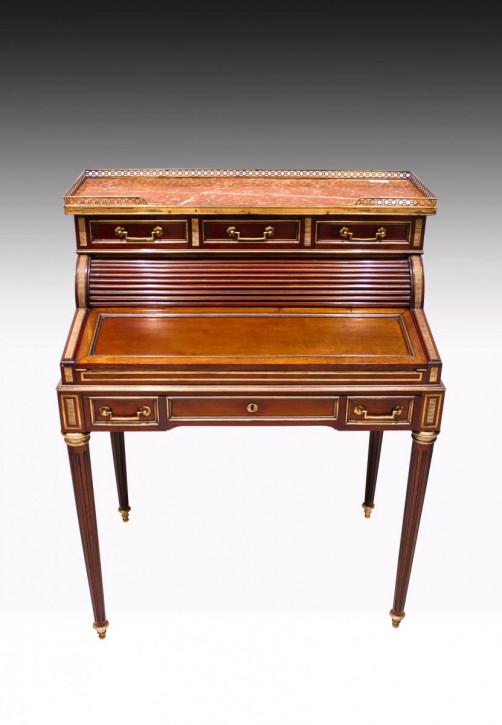 Französische Mahagoni Schreibtisch original antik 19. Jh