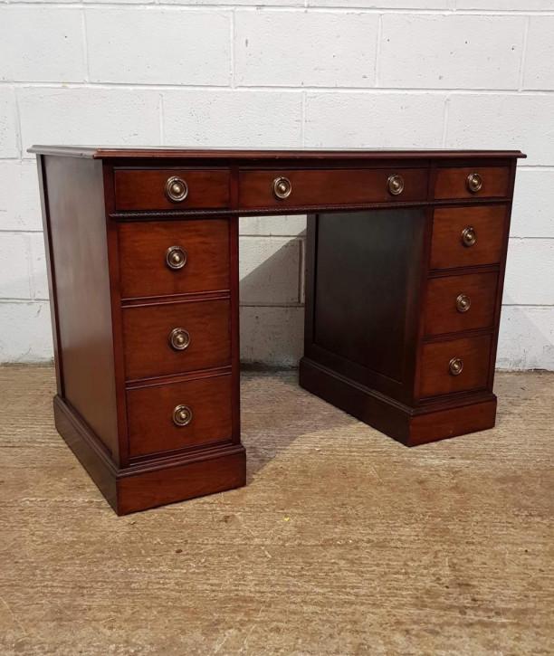 Antiker Mahagoni Schreibtisch englisch ca 1920