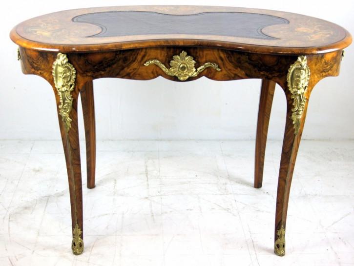 Viktorianischer antiker Mahagoni Schreibtisch englisch ca 1860