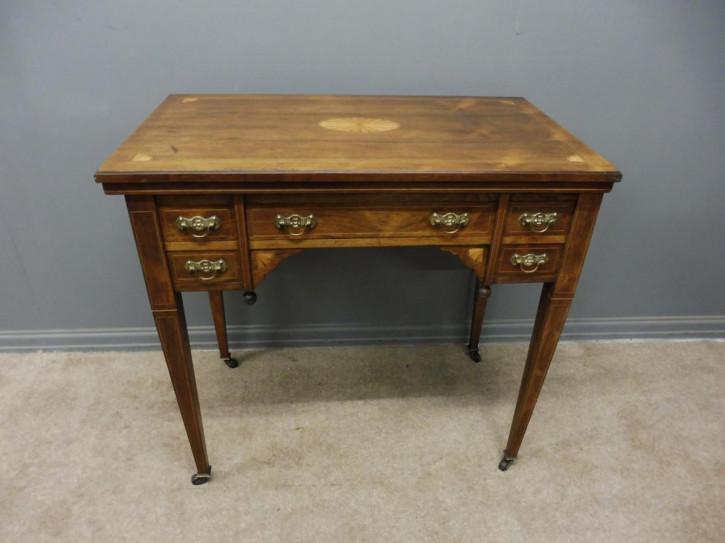 Britischer Palisander Schreibtisch Kartentisch original antik ca 1890