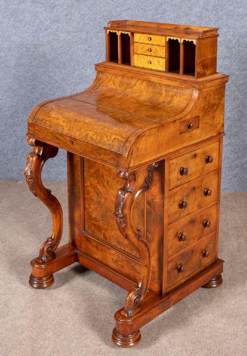 Viktorianischer Davenport Schreibtisch Nussbaum antik ca 1880