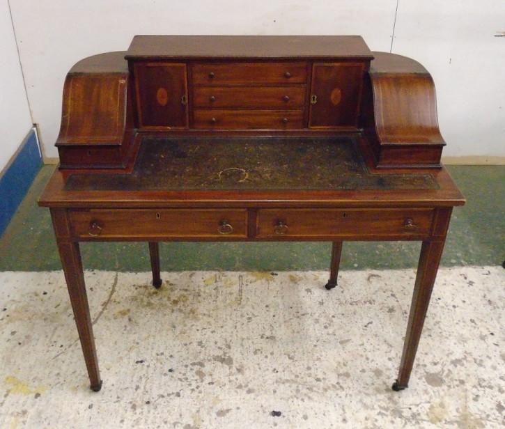 Viktorianischer Mahagoni Schreibtisch original antik ca 1900