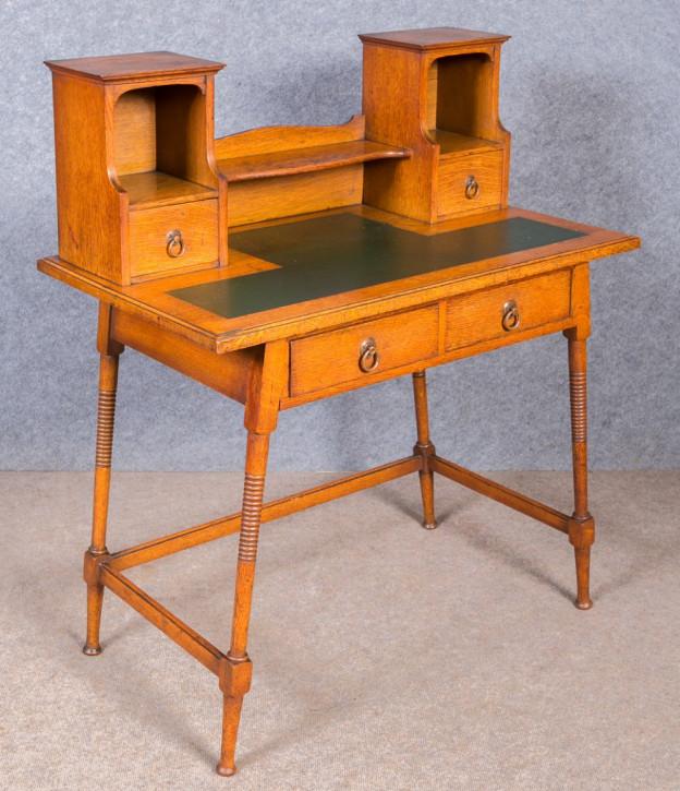 Arts & Crafts Eichen Schreibtisch antik englisch ca 1910