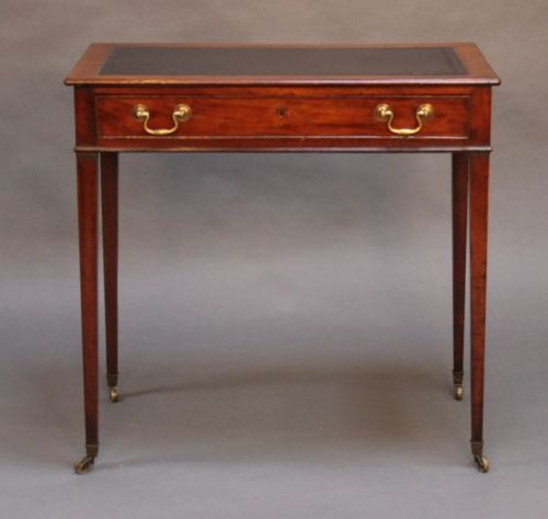 Englischer Mahagoni Schreibtisch original antik 19. Jh