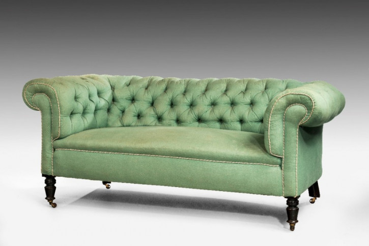 Edwardianisches Antikes Englisches Chesterfield Sofa ca. 1900