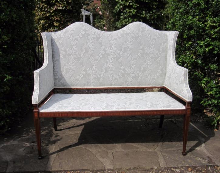 Edwardianisches Antikes Englisches Mahagoni Sofa ca. 1910