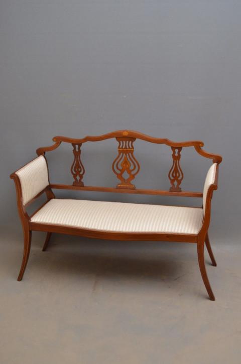 Edwardianisches Antikes Englisches Mahagoni Sofa ca. 1900