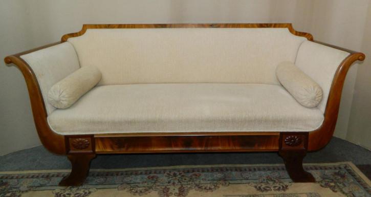 Antikes Englisches Biedermeier Mahagoni Sofa ca. 1890
