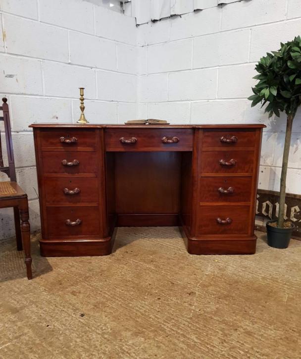 Antiker viktorianischer Mahagoni Schreibtisch englisch ca 1880