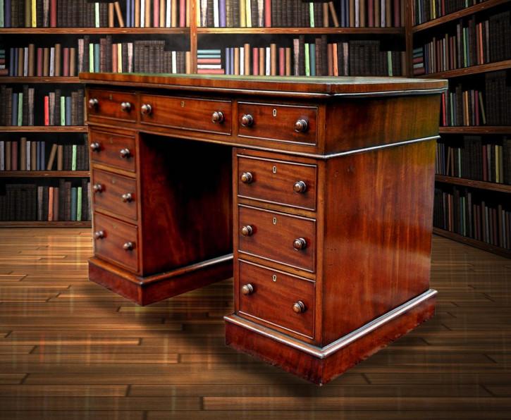 Antiker Mahagoni Schreibtisch britisch ca 1850