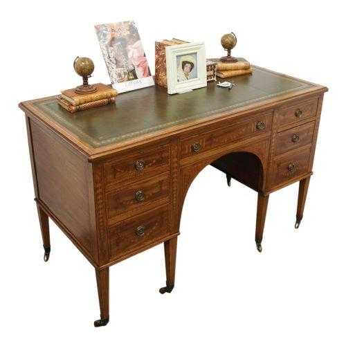 Antiker englischer Mahagoni Schreibtisch original ca 1900