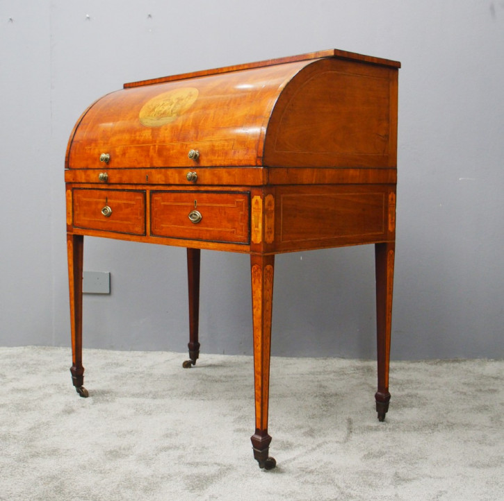 Georgianischer Mahagoni Sekretär Cylinder Desk antik ca 1810