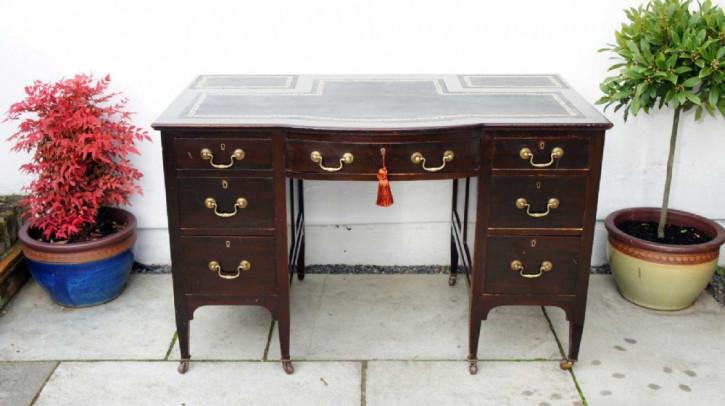 Edwardianischer Mahagoni Schreibtisch original antik ca 1890