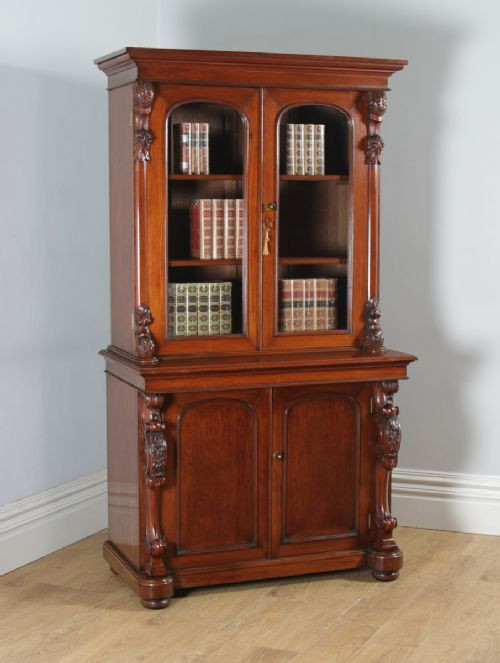 Antiker anglo-indischer viktorianischer Mahagoni Bücherschrank britisch ca 1870